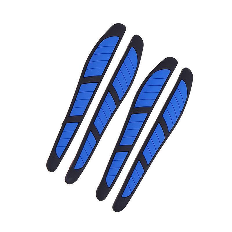 4 x Black Rubber Door Boot Guard Protectors BLUE Insert (DG3) MC17/10
