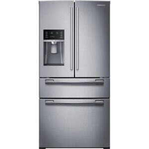 "Samsung RF25HMEDBSR 33"" French Door Refrigerator With Thru Door"