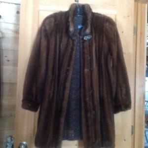 Manteau de fourrure ; Vison