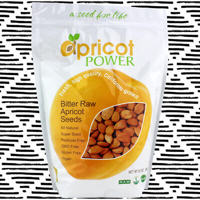 Apricot Power Organic Bitter Raw Apricot Kernel Seeds - All Natural NON-GMO 32oz