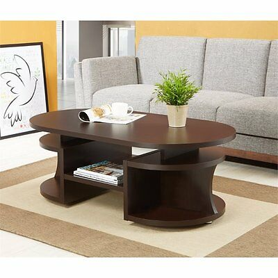 تربيزه جديد Furniture of America Chancelor Oval Coffee Table in Walnut