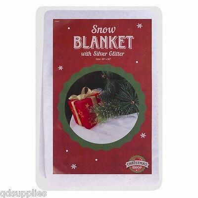 SNOW GLITTER BLANKET 150cm x 90cm CHRISTMAS ARTIFICIAL WINDOW DECORATION DISPLAY