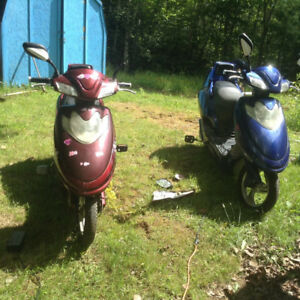 BLUE ONE GONE....two  E Bikes for parts $150,00 each