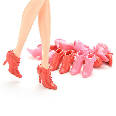 10 Pairs Party Doll's Shoes Short Boots For  Doll Best Color Random (Best Short Boots)