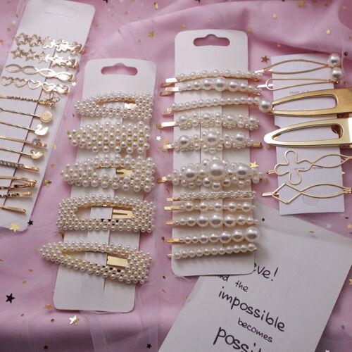 Pearl Hair Clip Barrettes 2019 Fashion For Women Handmade Hairpins Accessories
