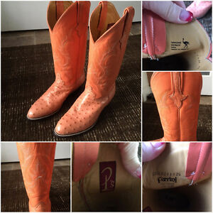 Steal of a Deal Geniune Ostrich Ferrini Cowboy Boots
