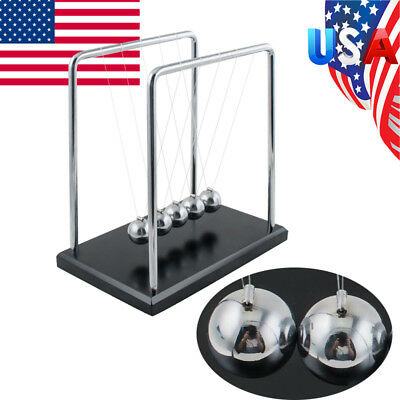 Us Ship Newton Cradle Balance Balls Classic Pendulum Desktop Display Cheap Sale