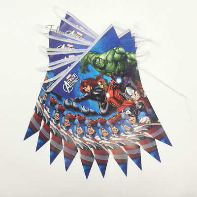 Party Flag Banners (Avengers Party Flag Banner Bunting Theme Party Flag Decoration Banner)