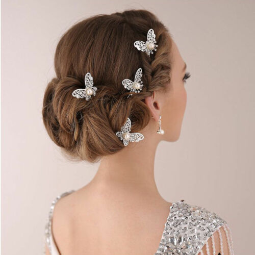 3X Bridal Bridesmaid Wedding Party Butterfly Hair Pin Headband Hair Accessories