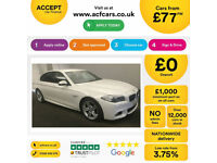 White BMW 520 2.0TD Auto 2016 d M Sport FROM £77 PER WEEK!