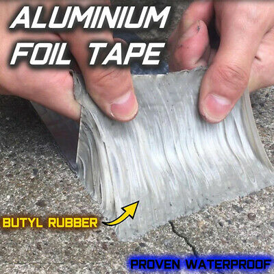Aluminum Foil Rubber Tape Self Adhesive Waterproof Roof Pipe Marine Repair