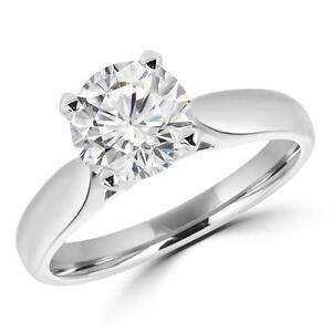 BAGUE EN OR DIAMANT SOLITAIRE 1.20 CT / SOLITAIRE DIAMOND ENGAGEMENT RING IN 14K GOLD 1.20 CARAT