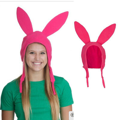 Family Matching Hat Louise Bunny Ears Cosplay Beanie Pink Hat Mom Girl Kid - Louise Bunny Hat