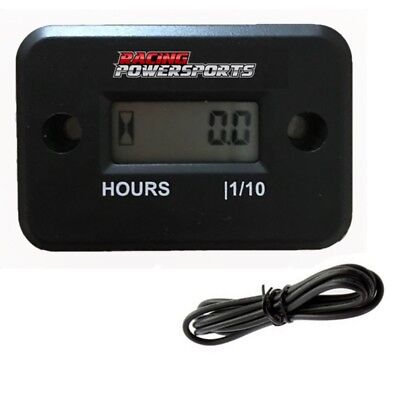Racingpowersports Digital Hour Meter Motorcycle Atv Snowmobile Marine Dirt Bike