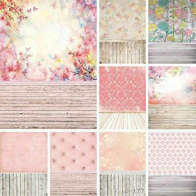 Retro Floral Wood Wall Photography Backdrop Photo Background Party Home Decors - Wall Backdrops