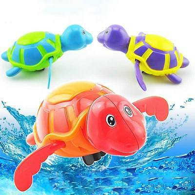 Wind-up Play Turtles Water Kids Bath Pool Time Animals Toys Swim Floating Baby