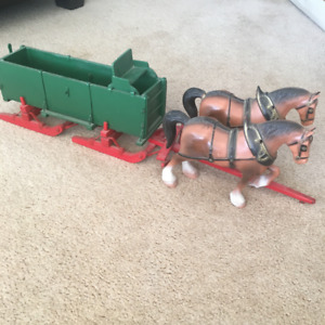 Horse  and grain cutter
