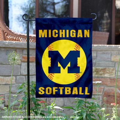 University of Michigan Wolverines Softball Garden Flag and Yard Banner