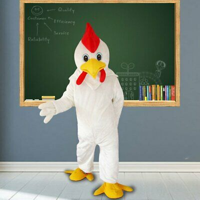 Hot White Chicken Mascot Costume Cosplay Party Game Dress Outfit Halloween - Halloween Chicken Outfit