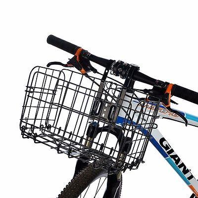 RockBros Cycling Steel Folding Basket Black Bicycle Handlebar Rear Box