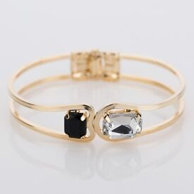Elegant Large Crystal Cuff Bracelet