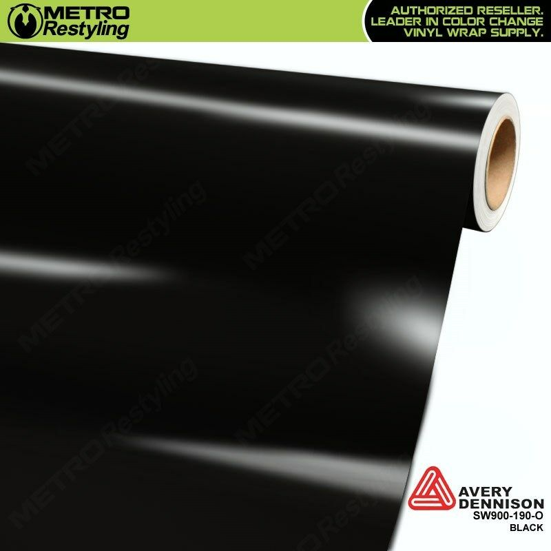 Car Parts - Avery Supreme GLOSS BLACK Vinyl Vehicle Car Wrap Film Sheet Roll SW900-190-O