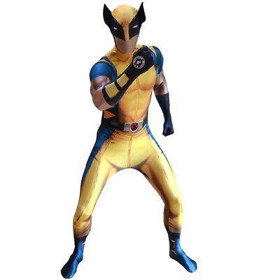 Licensed Morphsuit Marvel Digital Wolverine Design Fancy Dress - Morphsuit Designs