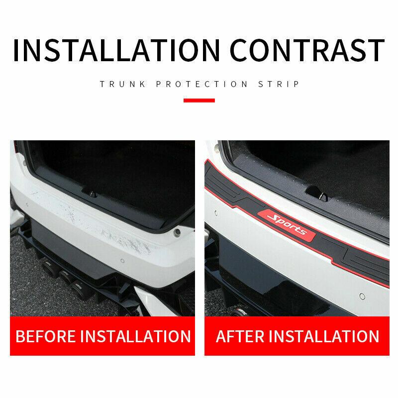 Car Accessories Door Sill Plates Sticker 90*7.2 CM Rear Bumper Protector Panel