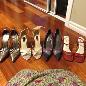 Various shoes with heels