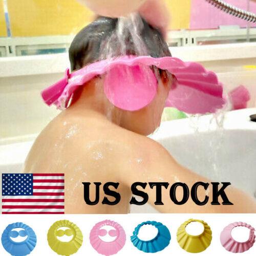 1x Adjustable Bathing Shower Shampoo Water Cap Hat Ear Hair