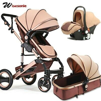 Wisesonle baby stroller 2 in 1 stroller lying or dampening folding light weight