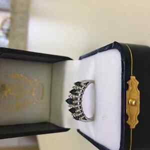 Diamond and Sapphire Ring size 7 for 300.00 London Ontario image 2