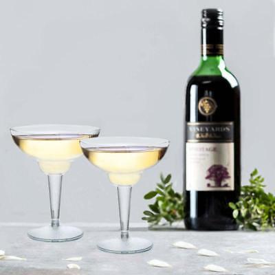 10/pk  Clear 12oz Plastic Disposable Margarita Glass  Crystal wedding/catering - Margarita Plastic Glasses