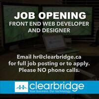 Front End Web Developer and Designer