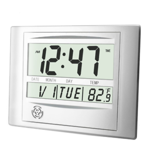 Heqiao Silent Desk Clocks In Digital Wall Clock Battery Operated Simple L