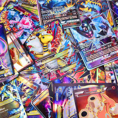 100Pcs Pokemon Cards 20GX+20Mega+59EX+1Energy Holo Flash Trading Card Mixed USA