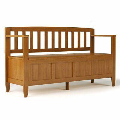 brooklyn solid wood entryway storage bench in