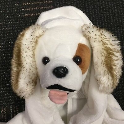 Child Toddler Warm Plush Puppy Dog Zip Up Hoodie Fleece Halloween Costume 2-4 (Warm Toddler Costumes)