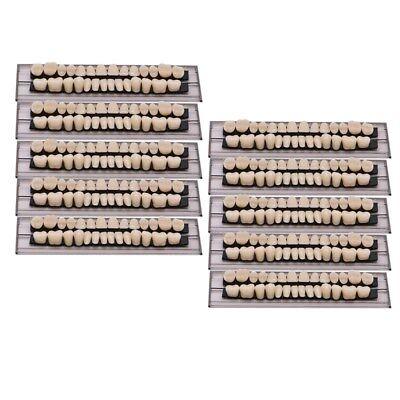 280pc 10set Dental Denture Acrylic Resin Full Set Teeth Upper Lower Shade 23a2