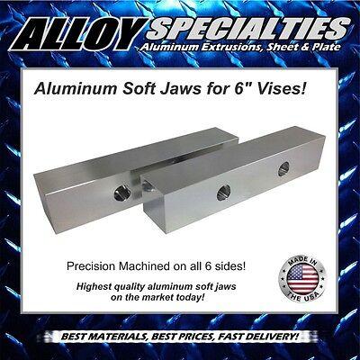 2 X 2 X 10 Fully Machined Premium Aluminum Soft Jaws For 6 Kurt Vise