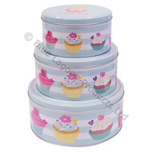 round cake storage tins ebay. Black Bedroom Furniture Sets. Home Design Ideas