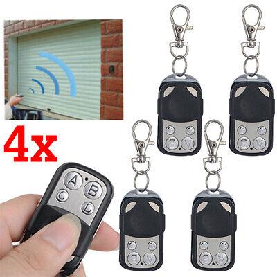 4x Universal 433 Mhz Ersatz- Handsender Fernbedienung lernfähig Garagentoröffner ()