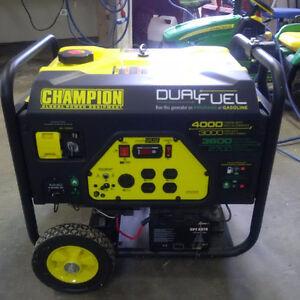 Champion Dual-Fuel 3000 rated WATT's Generator