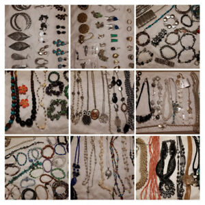 Costume jewelry necklaces bracelets and rings