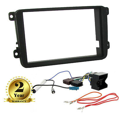 Double Din CD Stereo Fitting Kit Fascia For Volkswagen VW Caddy, Touran Golf MK5