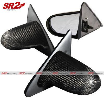 Real Carbon Fiber Spoon Style Manual Adjust Side Mirrors fits 92-95 Civic 2/3DR Civic 3dr Carbon Fiber Spoon