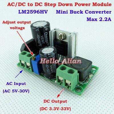 Acdc To Dc Buck Step Down Adjustable Volt Converter 3.3v 5v 6v 9v 12v 24v 2.2a