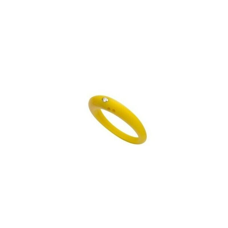 Ring Colon Size Large H Yellow W-Anchor Silicone Diamond To Bright CT