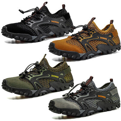 Mens Summer Hiking Walking Sneakers Breathable Outdoor Sport Climbing Shoes 2PCS Hiking Walking Shoes