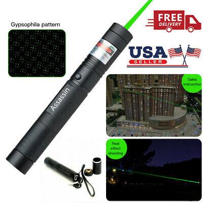 700Mile 532nm 303 1mw Green Laser Pointer Pen Star Cap Visible Beam Bright Light